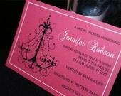 CUSTOM INVITATION FOR BIRTHDAYS / BABY OR BRIDAL SHOWERS / ENGAGEMENT