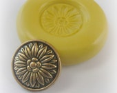 Button Flower Mold Mould Resin Clay Fondant Wax Soap Miniature Sweet Flower Victorian Jewelry Charms Flexible Molds