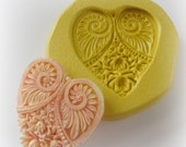 Heart Mold Mould Resin Clay Fondant Wax Soap Miniature Sweet Flower Victorian Jewelry Charms Flexible Molds