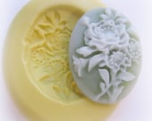 Flower Cameo Flexible Mold Flower Cameo Clay Candy Resin Mold