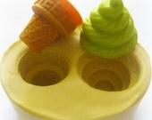 Ice Cream Cone Silicone Mold Dollhouse American Girl Doll SIze