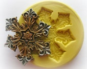 Snowflake Christmas Mold Mould Resin Clay Fondant Wax Soap Miniature Victorian Jewelry Charms Flexible Molds