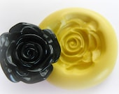 Black Rose Mold Silicone Open Flower Mould Resin Clay Fondant Polymer Clay Mould