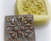 Square Fondant Mold Square Filigree Polymer Clay Resin Clay Mould