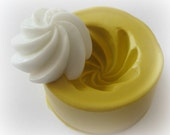 Fake Frosting Miniature Whipped Cream Mold Silicone Cupcake Top Mould