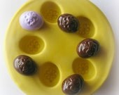 Easter Egg Mold Polymer Clay Cabochon Mold Resin Clay Mould