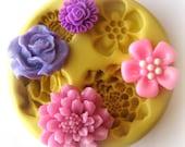 Flower Flexible Mold Clay Flower Resin Utee Soap Molds