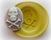 Lady Skull Cameo 18x25 mm Mold Silicone Flexible Kawaii Moulds