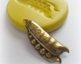 Pea Pod DIY Jewelry Charm Mold DIY Crafts Faux Metal Resin Fondant Moulds