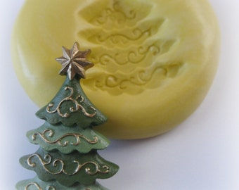 Christmas Tree Polymer Clay Silicone Mold Resin Wax Flexible Mould