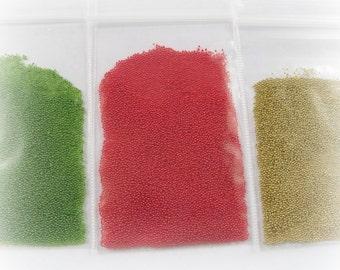 Red Green Gold Fake Mini Sweets Sprinkles Christmas Kawaii Microbeads