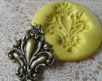 Victorian Stamping Gothic Polymer Clay Mold Resin PMC Mould