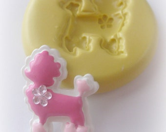 Poodle Mold Polymer Clay Dog Resin Mould DIY Cabochon