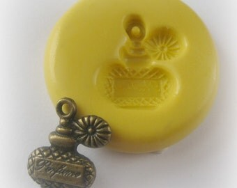 Perfume Bottle Mold Mould Resin Clay Victorian Jewelry Charms Flexible Molds