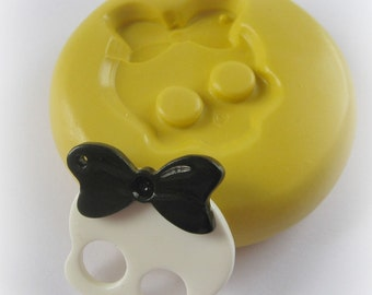 Skull Bow Mold Silicone Flexible Kawaii Moulds