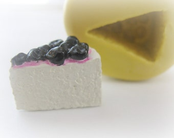 Small Cheesecake Slice Cabochon Mold Fake Sweets Charm Clay Resin Moulds