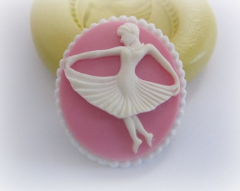 Ballerina Mold Cameo Fondant Mold