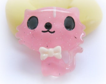 Cabochon Cat Mold Charm DIY Silicone Cute Mould Resin Fondant Cupcake Topper Mold