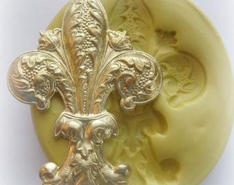Fleur de Lis Mold PMC Clay Craft Jewelry DIY Mould