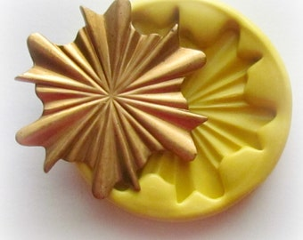 Vintage Art Nouveau Star Mold Polymer Clay Resin Fondant Mould