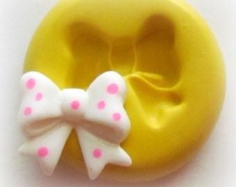 Molds Bow Cabochon Mold Fondant Resin Polymer Clay Mould