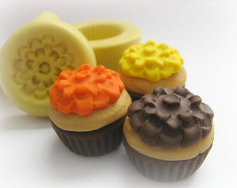 Cupcake Charm Mold Decoden Kawaii Mold Miniature Doll House Fake Food Mould