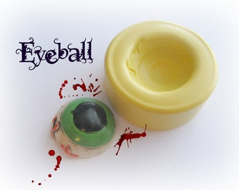 Eyeball Halloween Gothic Scary Cabochon Resin Polymer Clay Wax Mold Mould