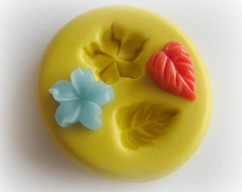 Flower Leaf Mold Cabochon Mold Resin Clay Mum Mould Hippie Flower