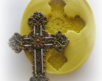 Molds Easter Cross Silicone Mold Resin Polymer Clay Mould