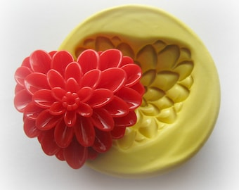 Heart Flower Mold Resin Clay Mum Mould Cabochon