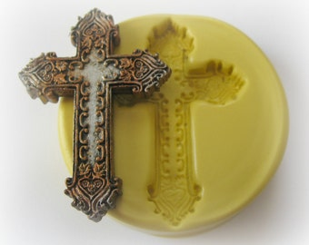 Silicone Mold Easter Cross Polymer Clay Resin Fondant Mold