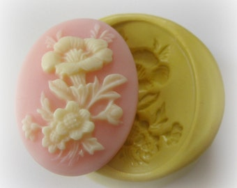 Rose Cameo Fondant Mold Large PMC Resin Clay Mould