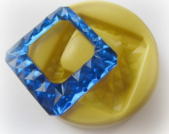 Square Gem Mold Resin Clay Faceted Jewelry Mould