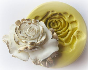 Rose Silicone Mold Soap Clay Resin Open Rose Mould