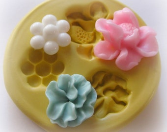 Fondant Flower Mold Kawaii Cupcake Topper Molds