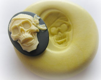 Lady Skull Cameo Mold Silicone Flexible Kawaii Moulds