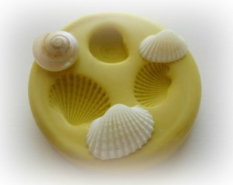 Tiny Shell Mold Mould Resin Clay Fondant Wax Victorian Jewelry Charms Flexible Molds