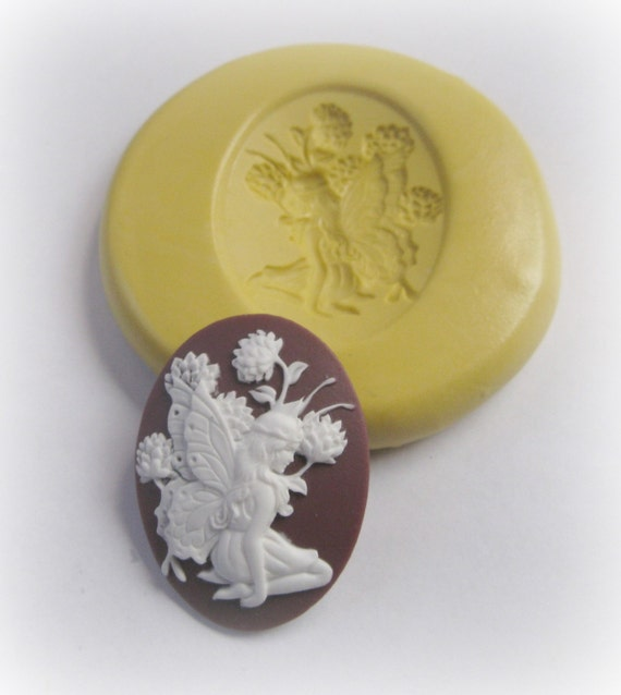 Fairy Cameo Mold Jewelry Fondant Clay Resin Cabochon Mould