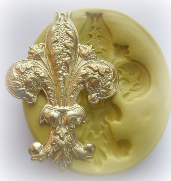 Fleur de Lis Mold PMC Clay Craft Jewelry DIY Mould