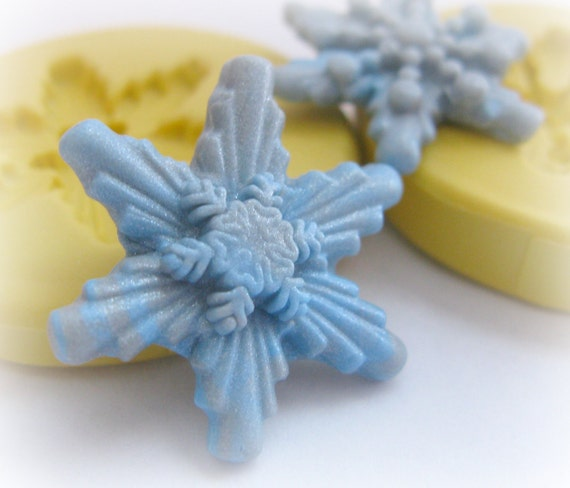 Snowflake Silicone Mold Christmas Decoden Cute Resin Mould Polymer Clay Mold