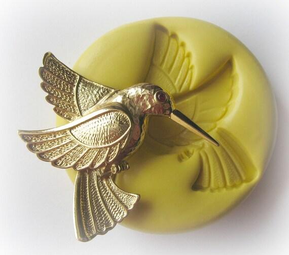 Hummingbird Mold Bird Clay Resin Pmc Fondant Mould