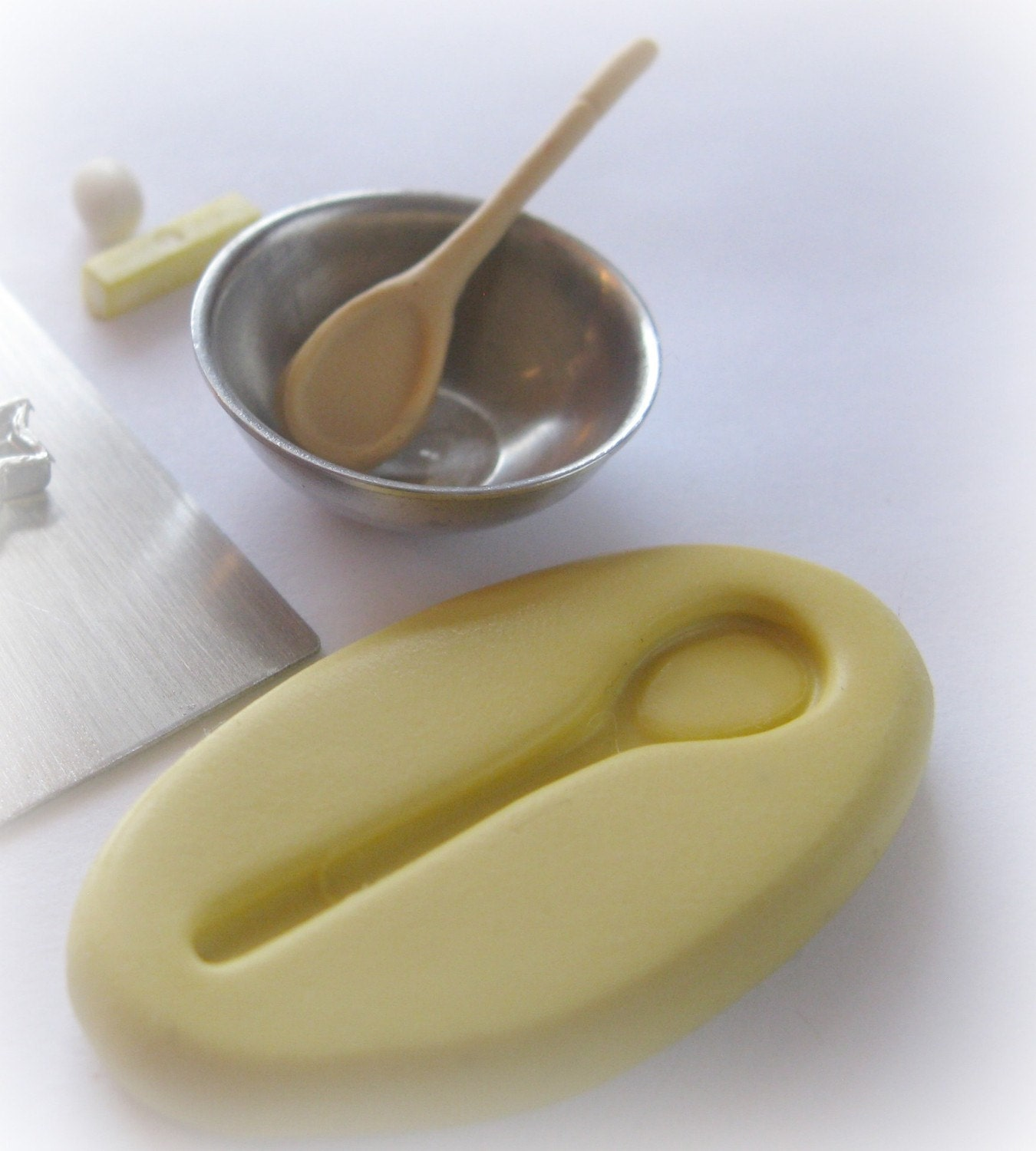 From Musty To Must See Kitchen: Miniature Wooden Spoon Mold DIY Miniatures Kitchen Cooking
