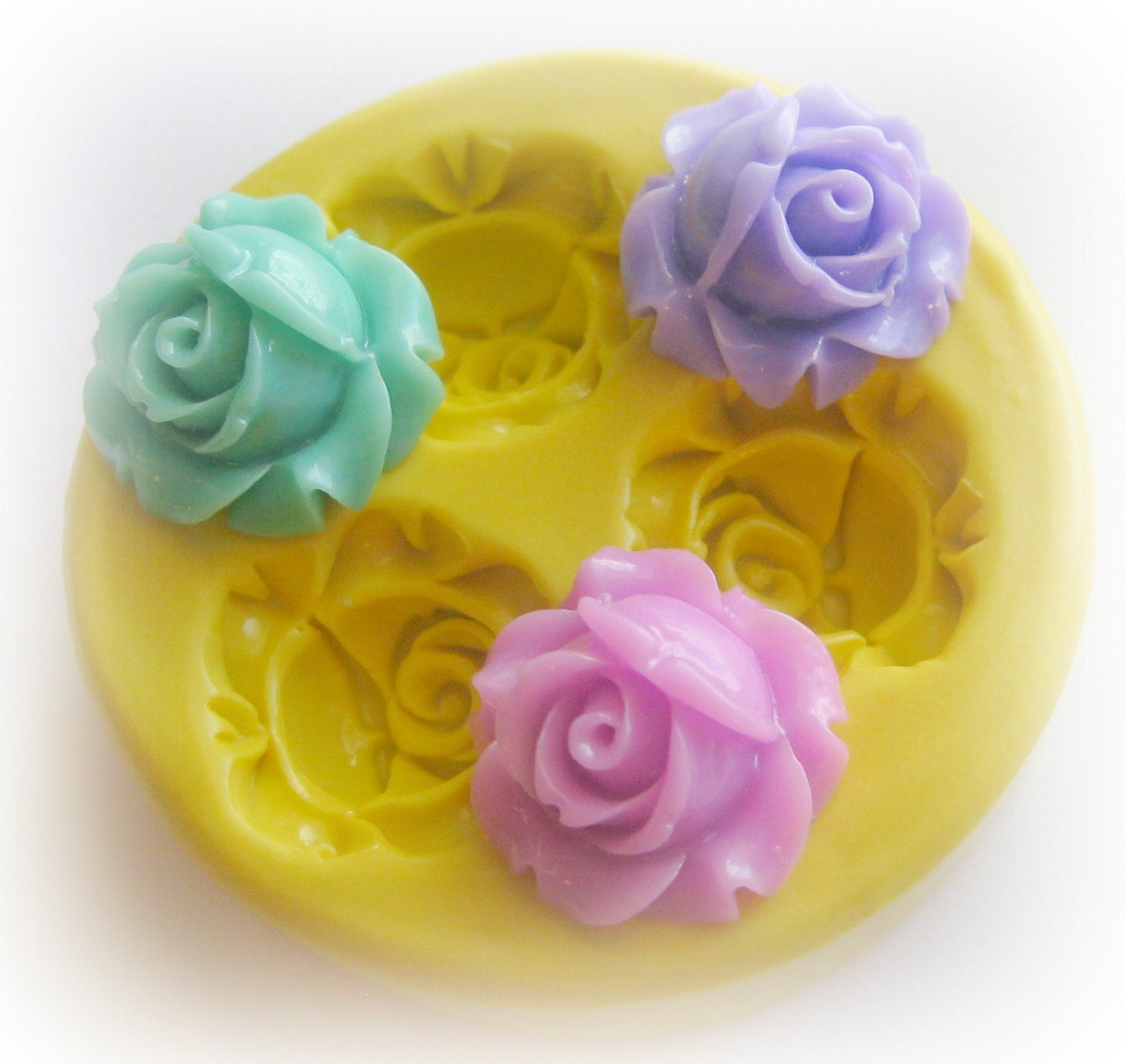 Flower Rose Polymer Clay Flowers Cabochon Mold Resin Clay