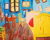 Artist study of Vincents Bedroom At Arles by Vincent Van Gogh