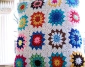 2 crocheted pillow shams with button closure measuring 18 inches square reserved for Sarah