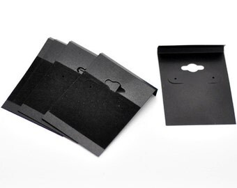 10 Black Matte and Velvet Earring Hanging Display Cards For Gifts Craft Shows Organize Storage Great for Handmade Earrings