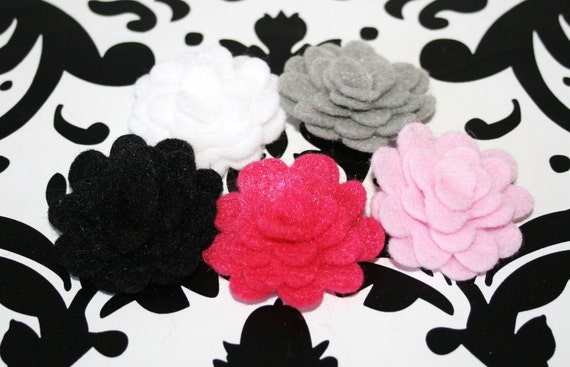 5 Handmade 1 Inch Felt Barbie Mix Colors Headbands Clips Brooch Decor Crafts