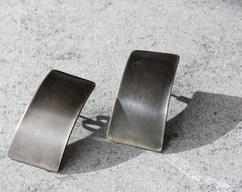 EARRINGS Sleek Modern Silver Posts - Geometric Earrings  - Made to Order
