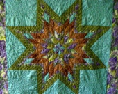 Handquilted Star Pattern Twin Quilt