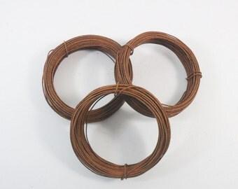 Rusty Wire 3 Rolls 22 Gauge 30 Feet Each (90 Feet Total) Craft Wire